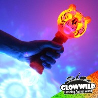 "Tiger Mega Flashing Animal Wand 11"" Wholesale"