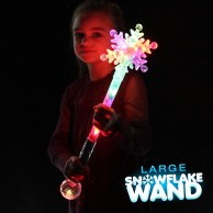 Large Flashing Snowflake Wand Wholesale