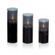 Flickabrights Glass Cup Candle Set