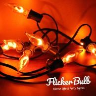 10 Flicker Bulb Fairy Lights - Connectable