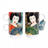 Geisha Stacking Mugs