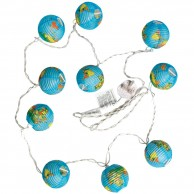 Geographical Paper String Lights
