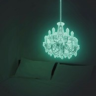 Giant 50cm Glow Chandelier Sticker