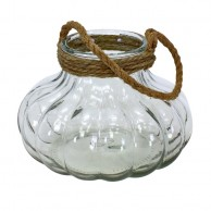 Giant Clear Glass Pumpkin Candle Holder