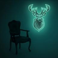Giant Glow Deer Trophy Sticker