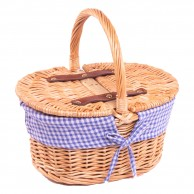 Kids Gingham Picnic Basket