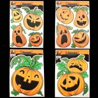 Glow Pumpkin Window Stickers