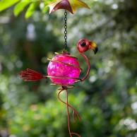Hanging Bouncy Flamingo Decoration