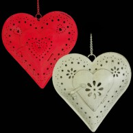 Hanging Heart Tealight Holder