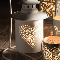 Heart Hanging Tealight Holder on Stand