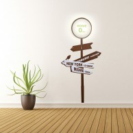 Home Sign Wall Light with Sticker
