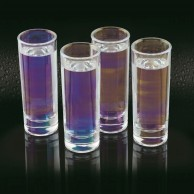 Iridescent Tall Shot Glasses x 4