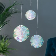 Iridescent Honeycomb Decorations (3 Pack)