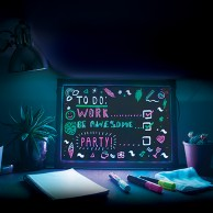 Large Neon Effect Frame
