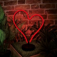 Heart LED Neon Table Light