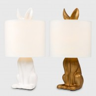 Lepus Matt Ceramic Hare Table Lamp