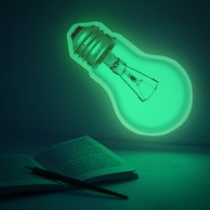 Large Glow in the Dark Light Bulb Sticker 30cm