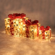 Light Up Christmas Parcels (3 Pack)