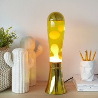 Magma Lava Lamp Golden