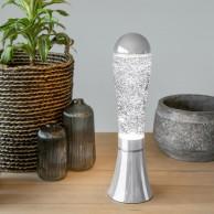 Magma Silver Glitter Lamp