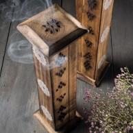 Mango Wood Incense Tower - Namaste Scents