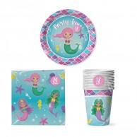 Mermaid Paper Tableware