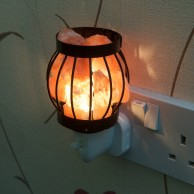 Metal Basket Plug In Salt Lamp