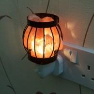 Metal Basket Plug In Salt Lamp