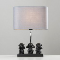 Three Wise Monkeys Table Lamp