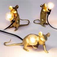 Seletti Gold Mouse Lamp