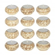Natural Cream Indian Tealight Holders