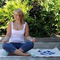 Natural Jute Yoga Mat - Om