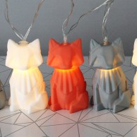 Origami Fox String Lights