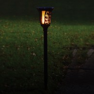 Solar Wall or Ground Flame Lamp