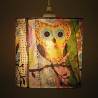 Fabric Owl Lampshade (19033)