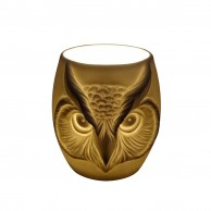 Owl Face Porcelain Tealight Holder