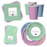 Pastel Paper Tableware