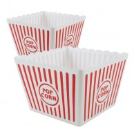 Jumbo Plastic Popcorn Holders x 2