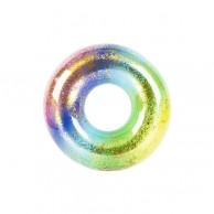 Large Rainbow Swim Ring With Glitter