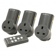 Remote Controlled Mains Socket Adaptor (3 pack)