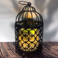Rust Effect Lanterns With Crooks (Twin Pack) 3890