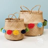 Seagrass Pom Pom Baskets