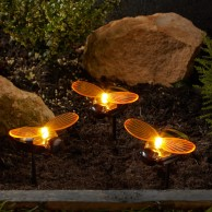 Solar Bee Stake Lights (3 pack)
