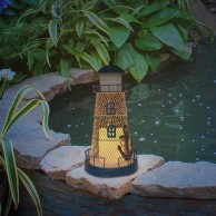 Solar Flicker Candle Lighthouse
