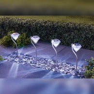 Solar Diamond Effect Lights (4 pack)