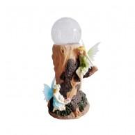 Solar Fairy Crackle Globe Light