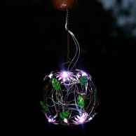 Solar Flower Ball Hanging Light