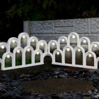 Solar LED Garden Fence Border