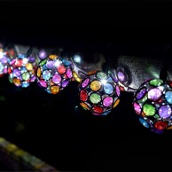 Solar Multi Glow Gem String Lights
