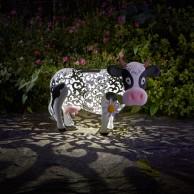 Solar Silhouette Daisy Cow